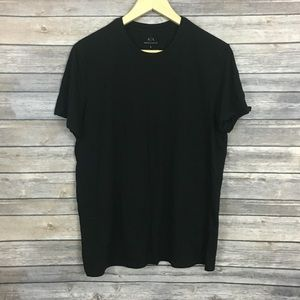 Armani Exchange Pima Cotton Black T-shirt